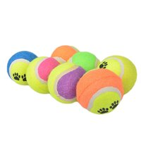 Wholesale 200pcs Candy color Dog Toy Tennis Balls Run Catch Throw Play Toy Chew Toys DHL Fedex