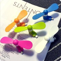 Wholesale 2016 NEW Android USB Fan Multi function Micro USB MINI Portable Fan For Android Smart Phone Port Laptop Desktop