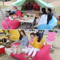 Cheap Fast Inflatable Camping Sofa banana Sleeping Lazy Chair Bag Nylon Hangout Air Beach Bed chair Couch