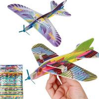 2016 hacer su propia espuma planeador surtidos de energía Prop Flying Planeadores Planeadores Aviones del avión de aves para niños niños DIY Rompecabezas Juguetes
