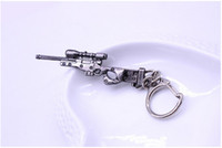 counter sniper - Cross Fire CF gun weapon arms model alloy Men Keychain Key Chain Ring Bag Charm counter strike SVD sniper rifle Jewelry