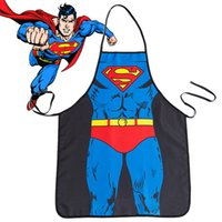 Wholesale Men and women Superman Spiderman personalized aprons League maid aprons Funny New creative couple