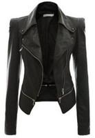 Precio de Leather jackets-Ropa Mujer Clip Explosivo 2016 Otoño E Invierno De Traje De Vestir Locomotora Jacket Loose Coat Dos Ropa Zipper Clothin De Cuero