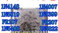 assorted rectifier - N4148 N4007 N5819 N5399 N5408 N5822 FR107 FR207 values Electronic Components Package Diode Assorted Kit