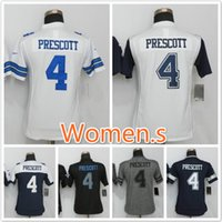 Wholesale 2016 New product Cowboys Dak Prescott football jerseys Replica sewing Women Name and Logos