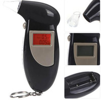 Wholesale Quick Response Professional LCD Alcohol Tester Digital Alcohol Detector Breathalyzer Police Alcotester Backlight Display brand new