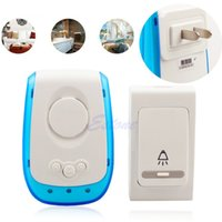 Wholesale Plug in Wireless Digital Chime Doorbell Door Bell Remote Control Tone Melody Y102