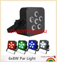 Wholesale HONG x8W Par Light LED Wireless in1 Battery led flat par light Wireless DMX LED Stage Battery Powered led flat par Club Light