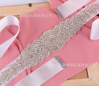 beaded nail fashion - 2016 Noble fashion crystal wedding dress belt pure manual nail drill the bride wedding dress belt