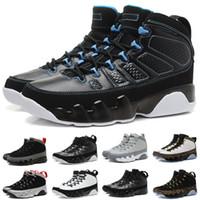 basketball court photos - 10 Colours With shoes Box Hot Sale Retro IX BLACK WHITE PHOTO BLUE COOL GREY Men Basketball Shoes Kids SHOES size