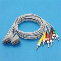 Wholesale 10 lead EKG Leadwires GE Marquette Multi Link EKG Cables Connector Banana Ending Compatibility Top Quality CMD0193A