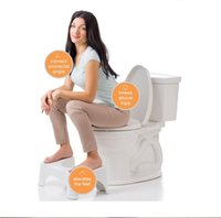 Wholesale Hot White inch ABS Plastic Original Squatty Potty Toilet Stool Bathroom Relie Squat Health Care