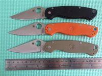 best steel knives - Best Price Spyderco C81 Knife Pocket Folding Knife Sanding Surface Stainless Steel HRC Camping Knife