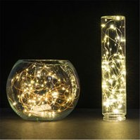 Wholesale 100XCR2032 mini Rice steady on warm white micro copper wire fairy string lights starry decor lamp for holiday party wedding Xmas