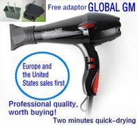 air handling equipment - W AC Motor NEW Low Noise Electric Handle Hair Dryer Black Professional Blow Dryer Bathroom Salon Equipment