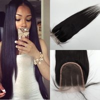 Wholesale 6A Brazilian Peruvian Straight Virgin Hair Parts Lace Closure Bleached Knot Natural Black Color Rosa Hair King KBL Closure