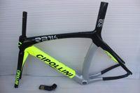 Wholesale road bike carbon frame matte black white carbon frames road Cipollini frame fork seatpost headset clamp bicycle frames