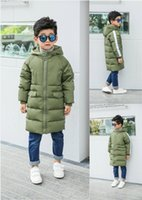 Wholesale Girls down jacket winter big kids children jacket girls long boy coat are thickened
