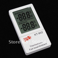 ambient temperature meter - Smart Digital Aquarium Ambient Thermometer Big LCD Mini Fish Bowl Ambient Aquarium Tank Temperature Meter With Glue Stick KT902