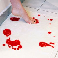 bathroom mat blood - Bath Mat Bathroom Rug Blood Tracks Anti slip Ground Mat Creative Blood Stains Toilet Mat Home Decor