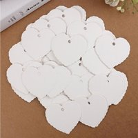 Wholesale 50pcs set Blank Heart Shape Craft Paper Hang Tag Wedding Party Label Price Gift Cards Decoration Bookmark