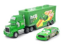 Wholesale Cars Toys 86 Truck - Pixar Cars CHICK HICK #86 & MACK Superliner Truck Diecast Metal Kids Boy Toy