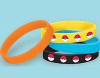 Wholesale Fashion Unisex Poke Elf Ball Pikachu Bracelets Silicone Women Men Girls Children Bracelets Gifts