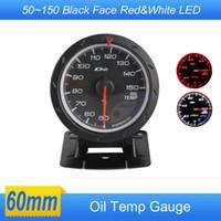 Wholesale Oil Temp Gauge MM Oil Temperature Gauges With Sensor White Black Face Car Meter Auto Gauge Tachometer