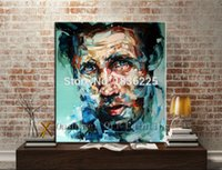 Cheap canvas oil painting model modern figures decoration oil painting man face abstract paintings for home decor interior decorating