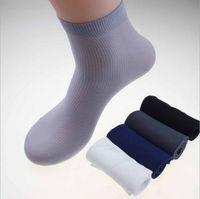bamboo hosiery - Summer men stretch hosiery ultra thin Short socks men s male bamboo fiber socks manufacturers