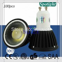aluminum casting cover - 100pcs W LM Anti glare Dimmable COB LED Spot light Bulbs GU10 Black Cover Die Cast Aluminum