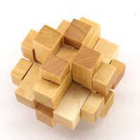 Wholesale Chinese traditional wooden toy KONGMING LUBAN lock Wooden educational early learning toy gift
