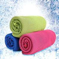 bath textiles - Ice cold towels summer outdoor sports towel cold sensation cool Hypothermia breathable absorbent Home Textiles