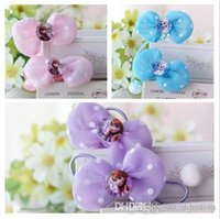 Wholesale Genuine child headdress hair accessories Frozen baby child princess hair rope one pair