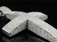 diamond ice cubes - MENS XXL ICE CUBE PAVE DIAMOND DOMED CROSS CTW