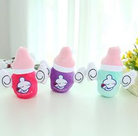 baby soft toys wholesale - 18cm Creative Feeding Bottle Plush Toys Stuffed Doll Pillow Cushion Birthday Gifts Soft Baby Bottle Toy Funny Cute