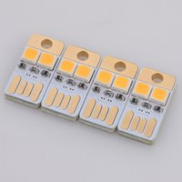 Wholesale Creative Mini LED Keyboard Lights USB Lights Pocket Card USB Power Lamps Night Light W V For Computer Laptop