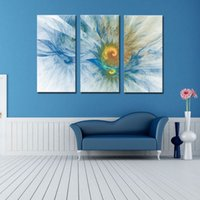 art e decoration - 3 Picture Combination Wall Art E HOME Stretched Canvas Art Chrysanthemum Decoration Painting The picture Print For Home Decor