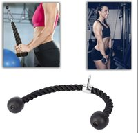 Wholesale Gym Bodybuilding Tricep Rope Fitness Equipment cm Heavy Duty Coated Nylon Rope Back Shoulders Abdominal Training
