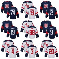 Wholesale 2016 USA Olympic Hockey Jerseys White Kane Hockey Jerseys Blue VAN RIEMSDYK Hockey Uniform Johnson Pavelski Carison Sale