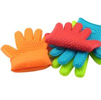 Wholesale Kitchen Silicone Glove Oven Pot Holder Baking BBQ Cooking Mitts Heat Resistant Brand New Good Quality