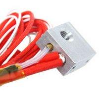 aluminum blocks for machining - Heater Block For Reprap Makerbot D Printer MK8 Extruder Hot End Screw hole B00167 BAR