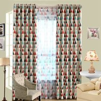 Wholesale New Design Modern Triangle Pattern Window Curtain Draperies Screen Sheer Valance Blackout Voile Curtain CM JI0144