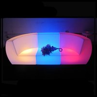 Wholesale modern design waterproof plastic lithium battery charge inflatable lighting up sofa with led light piece