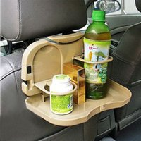 Wholesale New rear seat drink holder racks car seat back table water cup holder drink holder multi use car water storage table W051