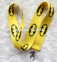 batman lanyard keychain - New Batman Neck mobile Phone lanyard Keychain straps Party Gifts