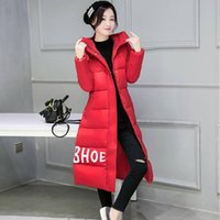 Wholesale 2016 Women Down Parkas Winter Fashion Women Coat Slim X long Down jacket for Female Clothing Thick warm Outerwears Overcoat Plus Size M XL