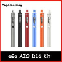 bf blue - Original Joytech eGo AIO D16 Kit ml atomizer BF SS316 ohm cois mAh Battery Authentic joyetech eGo AIO D16 ecigarette