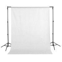 1.5x3m / 5x10ft 100% algodón muselina PRO foto de la fotografía, fondo blanco