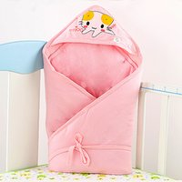 Wholesale BlueberryShop Warm Thermo Terry Swaddle Wrap Blanket Sleeping Bag for Newborn